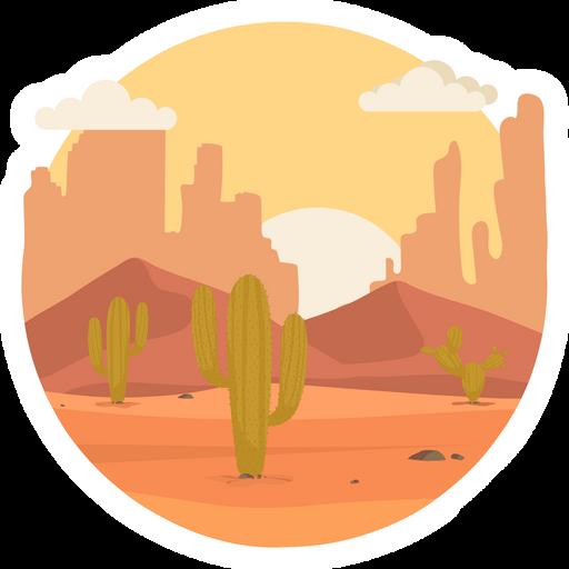Desert Sunrise Round Sticker