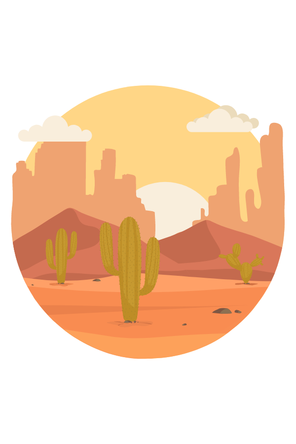 Desert Sunrise Round Sticker