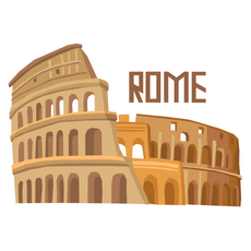 Travel Colosseum Rome Sticker