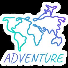 World Map Adventure Sticker