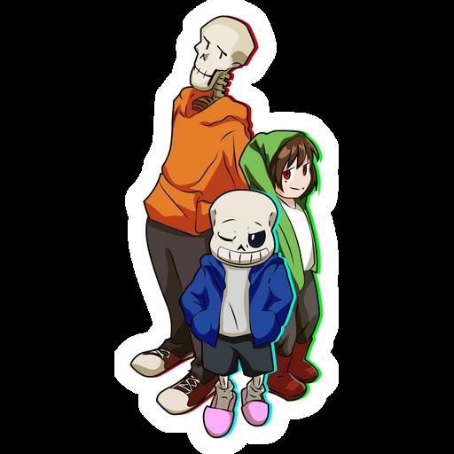Bad Time Trio Sticker
