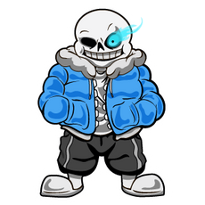 Undertale Sans with Flaming Eye