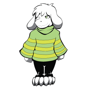 cool and cute Undertale Asriel Kid for stickermania