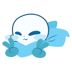 Undertale Blueberry Sans Sticker