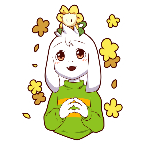 Undertale Asriel Dreemurr with Flowey Sticker