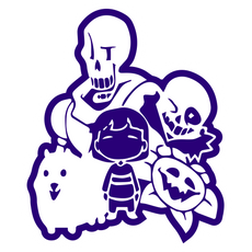 Undertale Company of Characters Sticker