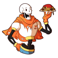 Undertale Papyrus with Spaghetti Sticker