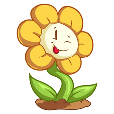 Undertale Smiling Flowey Sticker