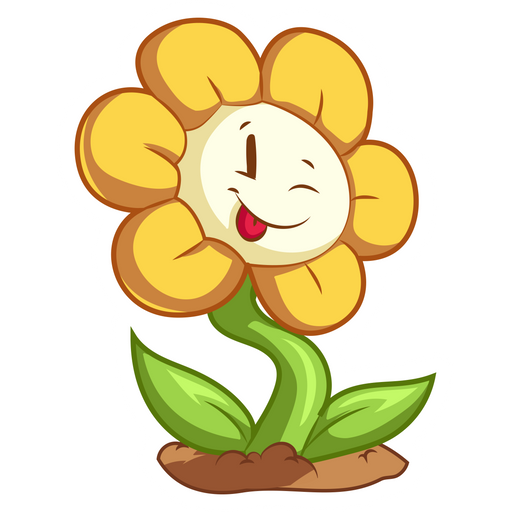 Undertale Smiling Flowey Sticker