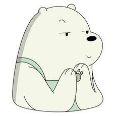 We Bare Bears Ice Bear Cunning Face Sticker
