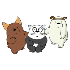 We Bare Bears Children As Pets Sticker