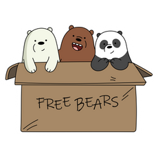 We Bare Bears Free Bears Sticker