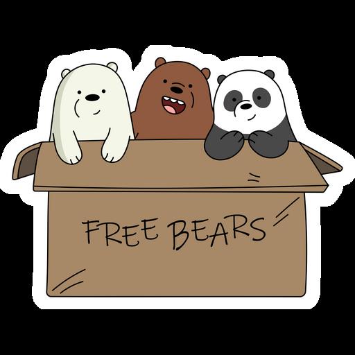 We Bare Bears Free Bears Sticker