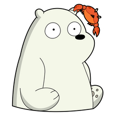 We Bare Bears Ice Bear and Crab Sticker