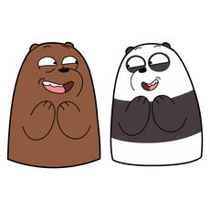 We Bare Bears Panda and Grizzly Sticker