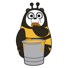 We Bare Bears Panda Bee Sticker