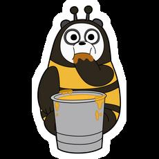 We Bare Bears Panda Bee Sticker