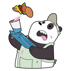 We Bare Bears Panda Waiter Sticker