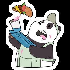 We Bare Bears Panda Waiter Sticker