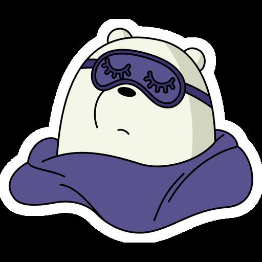 We Bare Bears Sleeping Ice Bear Sticker