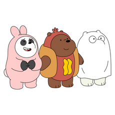 We Bare Bears Trick or Treat Sticker