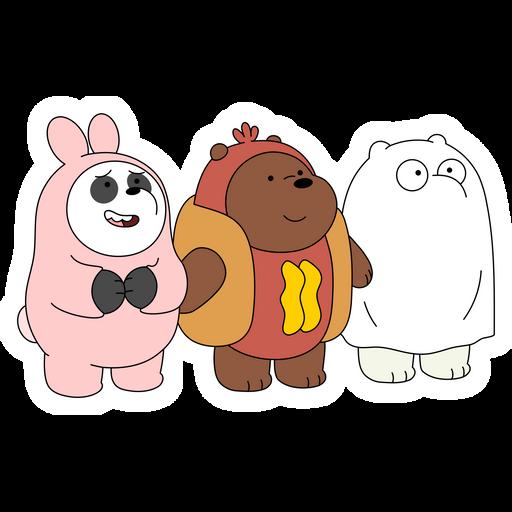 We Bare Bears Trick or Treat Sticker