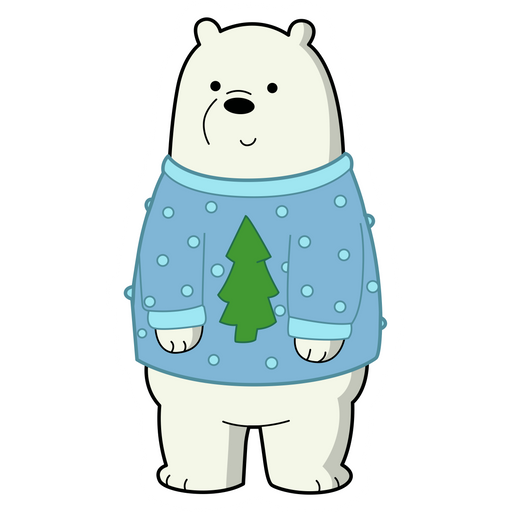 We Bare Bears Christmas Ice Bear Sticker