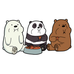 We Bare Bears Eating Sticker