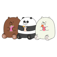 We Bare Bears Gluttons Sticker