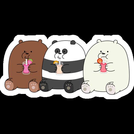 We Bare Bears Gluttons Sticker