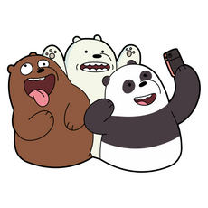 We Bare Bears Selfie Sticker