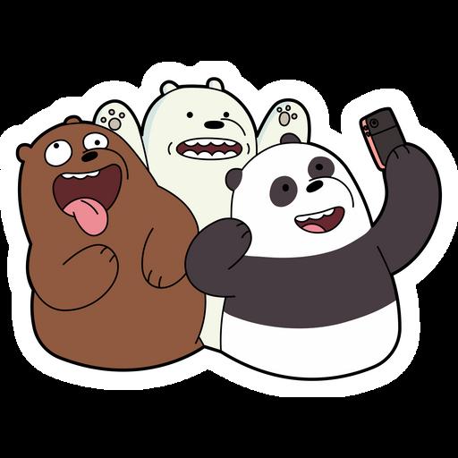 We Bare Bears Selfie Sticker