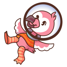 Flamingo AlbertsStuff Sticker
