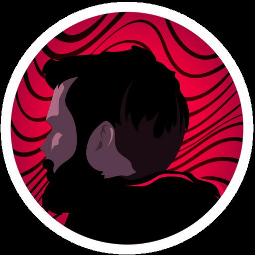 PewDiePie on Wavy Background Sticker