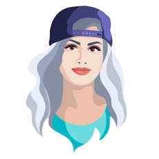 SSSniperWolf in a Cap Sticker