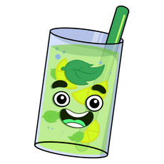 Glass of Guava Juice Youtuber Sticker